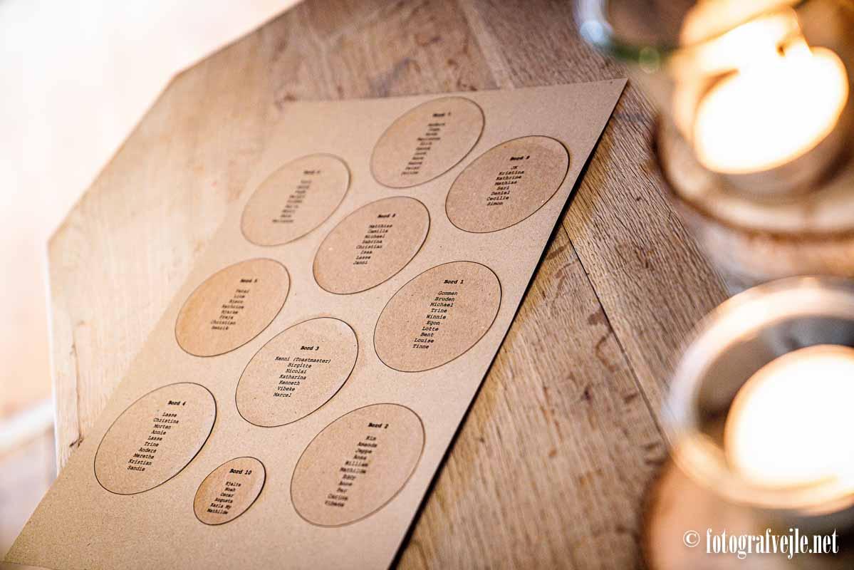 bordkort bryllup Vejle